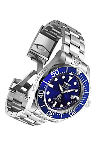 Invicta Men's Pro Diver Stainless Steel Automatic Watch, Silver/Blue (Model: 3045)