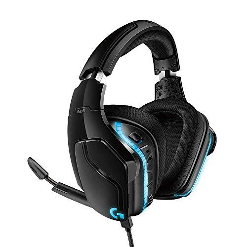 Headset Gamer Logitech G635 7.1 Dolby Surround com RGB LIGHTSYNC e Drivers de Áudio Avançados para PC, PlayStation, Xbox e Nintendo Switch