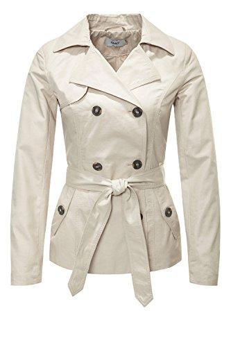 Only Onlmaria Short Trenchcoat Otw Chaqueta, Beige (Peyote), 38 (Talla del Fabricante: Medium) para Mujer