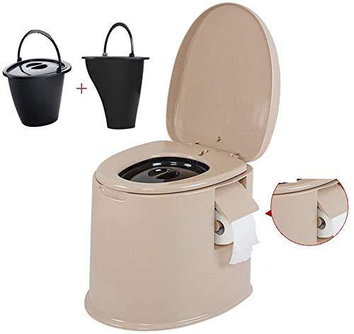 PLEASUR Inodoro de Camping Portátil con sede y Cubierta Inodoro de compostaje Loo Interior y...