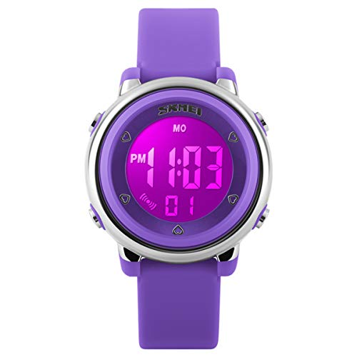 Kid Watch Sport LED Alarm Stopwatch Digital Child Quartz Wristwatch for Boy Girl O