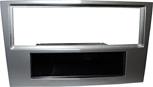 Mascherina autoradio 1 DIN adattatore montaggio stereo un din colore ARGENTO SCURO.