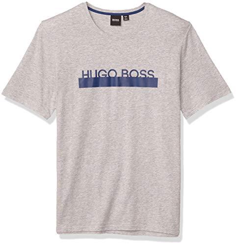 Hugo Boss Herren Identity T-Shirt RN 10143871 09 Pyjama-Oberteil (Top), Smoke Grey, Medium