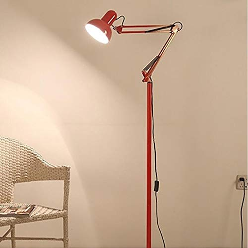 Koper Living Room Hotel Lighting Night Verstelbare Vloerlampen Study Reading bed licht, Simple Creative Decoration Floor Lamp (Color : Red)