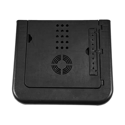 Soporte plegable para computadora portátil, escritorio para computadora portátil Lapdesk con diseño de ventilador doble para oficina para dormitorio para escuela