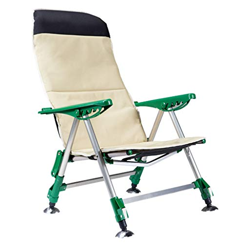Caim-Sedie Klapstoel voor op het strand, draagbaar, voor picknick, buiten, campingstoel met zitting van lichte Oxford-stof