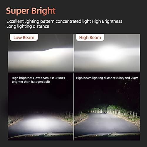 Luz de coche Auto Auto Lámpara HB4 HB3 Bombilla H13 9008 LED 6000K 10000LM H7 H4 H1D LED H3 H3 Faro 12V Alto Brillo 9006 9005 H8 H9 ( Emitting Color : 2PCS 6000K , Socket Type : 9007/HB5 Hi/Lo )