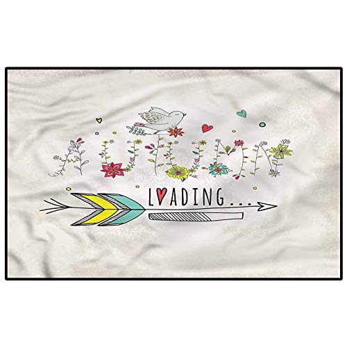 Quote Patio Rugs Kitchen Rugs Non Skid Fall Autumn Flowers Marine Carpet for Trailer bunks Kids 5 x 7 Ft
