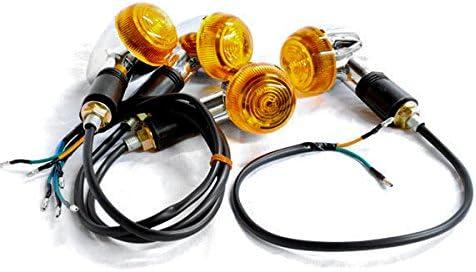 Krator Motorcycle 4 pcs Amber Alternative dealer Signals Lights Turn Compati Max 49% OFF Bullet