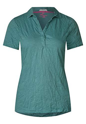 CECIL Damen 313741 T-Shirt, Grün (sage Green 11893), Large (Herstellergröße:L)