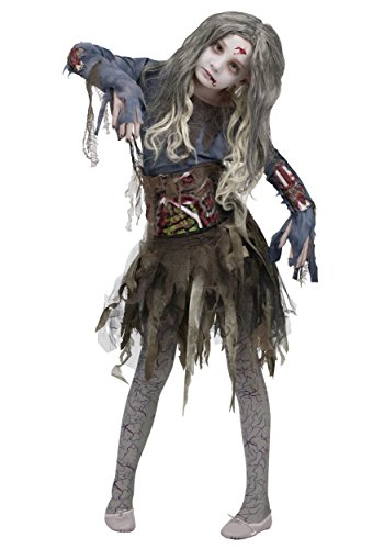 Girls Zombie Costume - M