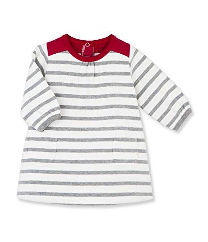 Petit Bateau Section Vestido, Multicolore (Lait/Subway), 3 Meses para Bebés