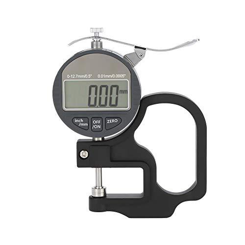 0,01mm digital grosor Medidor de medición para testigos Papel piel paño Rango de alambre, 0–12,7mm