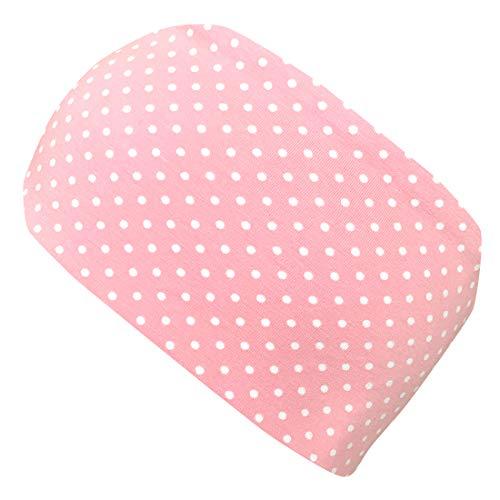 Wollhuhn ÖKO Damen/Mädchen Süßes elastisches Pünktchen Haarband/Stirnband Zartrosa/Weiß (aus Öko-Stoffen, bio) 20193028
