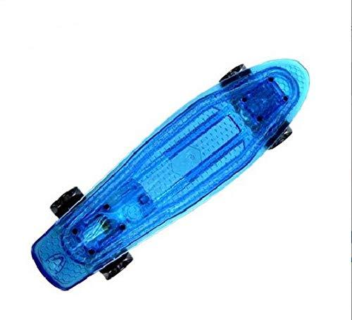 Longboard Skateboard Cruiser Board Mit Stoßdämpfung Und LED-Licht Für Kinder Erwachsene 55,5 × 15 × 12CM (22 Zoll)