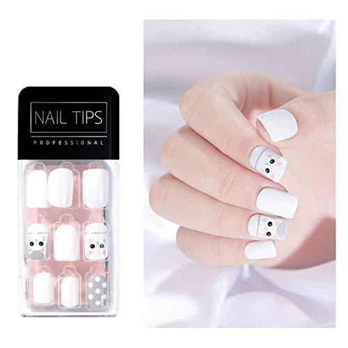 Bdrsjdsb 30 Pcs Ultra-Mince Faux Nail Art Conseils Couverture Complète Faux Ongles Manucure Décor Nail Art Autocollants Stickers 18