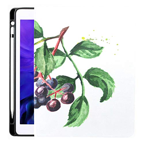 Ipad Pro 12.9 Case 2020 & 2018 With Pencil Holder Elderberry Branch Smart Cover Ipad Case, Supports 2nd Gen Pencil Charging,case For 2020 Ipad Pro 12.9 Cover With Auto Sleep/wake