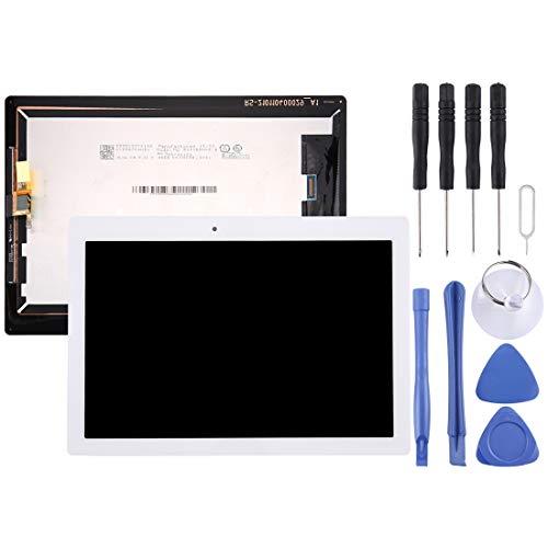 Brillo Alto Pantalla LCD y digitalizador Asamblea Completa for Lenovo Tab 2 A10-30 / TB2-X30F (Negro/Blanco) (Color : White)