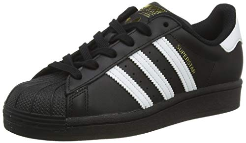 Adidas Originals Superstar J, Zapatillas de Básquetbol, Core Black/Footwear White/Core Black, 38 EU