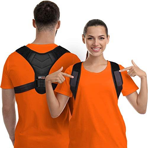 Corrector de Postura para Hombres y Mujeres, Órtesis para Parte Superior de Espalda para Soporte de Clavícula, Enderezador de Espalda Ajustable y Brinda Alivio al Dolor de Cuello, Espalda y Hombro ⭐