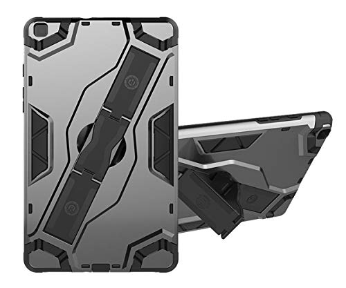 SDTEK Case Compatible with Samsung Galaxy Tab A (8 inch) 2019 Strong Rugged Tablet Cover with Kickstand Handle (Grey)