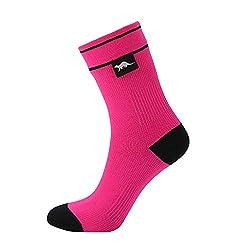 OTTER Wasserdicht Socken Knöchel Länge atmungsaktiv Trekking Skifahren Transparentpapier Socken für Damen und Herren (Pink, Mittlere Größe)