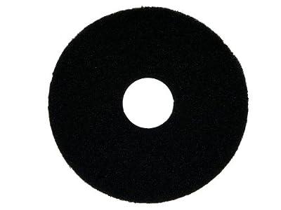 "Oreck Commercial 437071 Strip Orbiter Pad, 12"" Diameter, Black, For ORB550MC Orbiter Floor Machine"