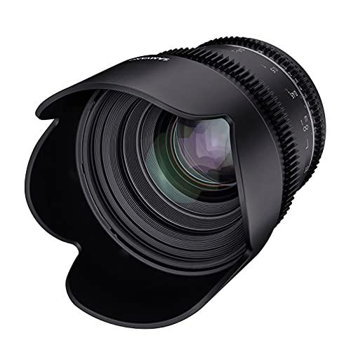 Samyang MF 50mm T1,5 VDSLR MK2 MFT – lichtstarkes T1,5 Normal Cine- und Video Objektiv für MFT Mount, 50 mm Festbrennweite, Follow Focus Zahnkränze Vollformat, APS-C und MFT, 8K Auflösung