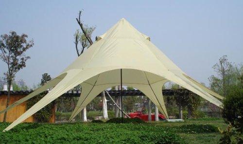 CLP Sternzelt 14M | XL-Sternzelt Für Den Garten I Event-Zelt Mit 14 Meter Durchmesser I Überdachten Zeltfläche Von Ca. 40 M² I In Vielen Farben, Farbe:Creme