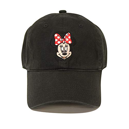 Disney womens Minnie Mouse Baseball Cap, Black, One Size US