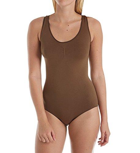 Hanes Women's Perfect Bodywear Seamless Bodysuit HST009 L Tan