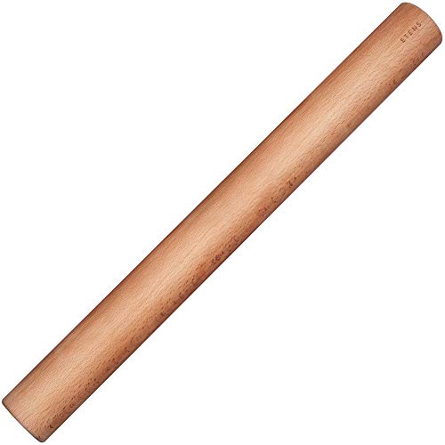 Etens Rolling Pin 18 Inch, Professional Dowel Wood Rolling Pins for Baking Pasta Pizza Pie and Cookie, Wooden Dough Roller Pin – Baking Supplies Tools (Straight Style, Large 1.75 Inch Diameter)