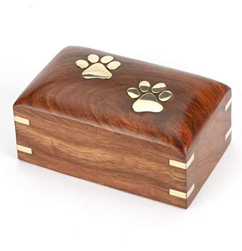 Urns UK Elstree Urne für Haustiere, aus Holz, Größe S, 12,7 cm