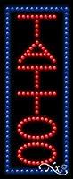 27x 11x 1インチTattoo (垂直)アニメーション点滅LEDウィンドウサイン