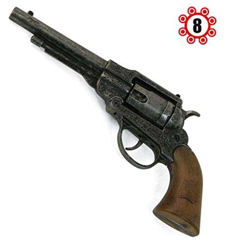Revolver Navy Antik, Spielzeugrevolver, Kinderspielzeug, Karnevalszubehör, Kostümzubehör, Rollenspiele, Metall (8er-Ring Munition), ca. 22 cm, Cowboy, Wilder Westen