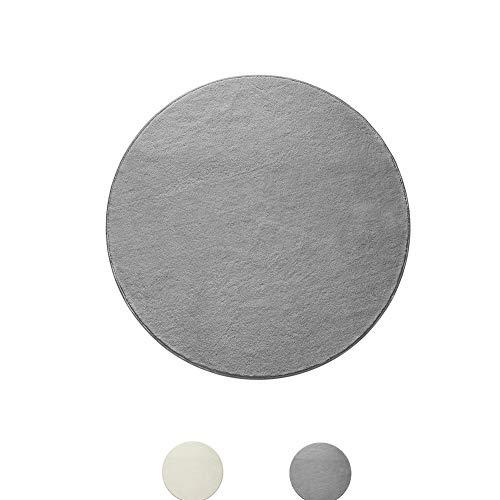 Tapijt, pluizig gebied tapijten Anti-Skid Slaapkamer Grijs Rund Voor Woonkamer Mat (120 * 120cm) 11-2-tapijt