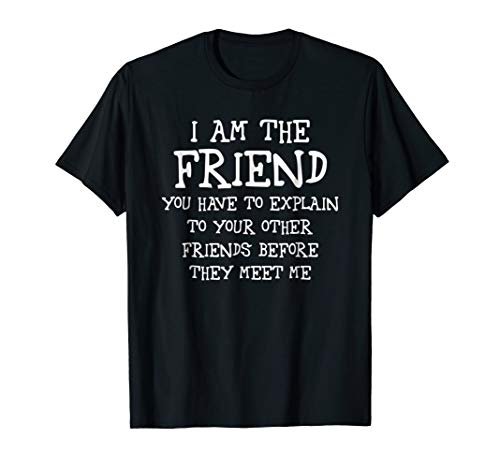 The Friend You Explain To Other Friends Best Quote T Shirt