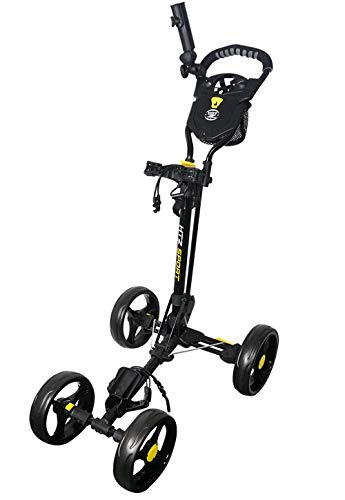 Hot-Z Golf Sport 4 Wheel Push Cart, Black