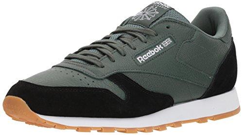 Reebok CL Leather GI, Zapatillas Deportivas. para Hombre, Chalk Green Black White Gum, 39.5 EU