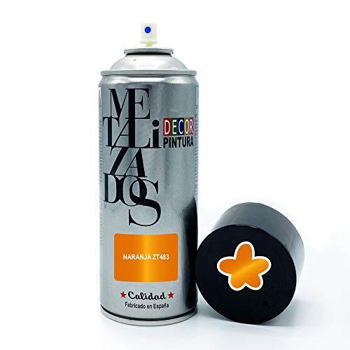 Pintura Spray METALIZADA Naranja 400ml imprimacion para madera, metal, ceramica, plasticos / Pinta Radiadores, bicicleta, coche, plasticos, microondas, graffiti