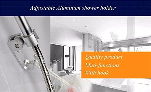 GKONGU Soporte giratorio de la ducha Shinny Aluminio DIY Baño titular sólido Showerhead Flexible titular funcional con…