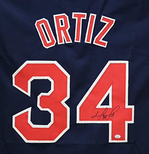 David Ortiz Boston Red Sox Signed Autographed Blue #34 Custom Jersey PAAS COA