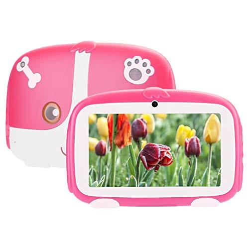 BTER Tablet per Bambini da 7 Pollici per Android 9.0, Wi-Fi da 1 GB + 16 GB di Tablet HD per Bambini con Custodia Anti-Caduta e Microfono, Lettore di eBook Portatile per Bambini per Google (Rosa)(EU)