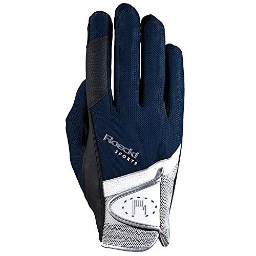 Roeckl Sports Handschuh Madrid, Unisex Reithandschuh, Marine, Größe 7,5