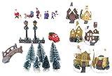 TOYLAND Set de escenas iluminadas Mini Village - Decoraciones navideñas (25 Trozo)