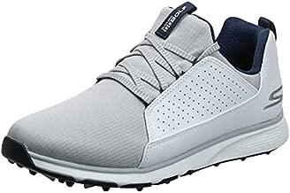 Skechers Men's GO Mojo Waterproof Golf Shoe, White/Gray Textile, 9.5 M US
