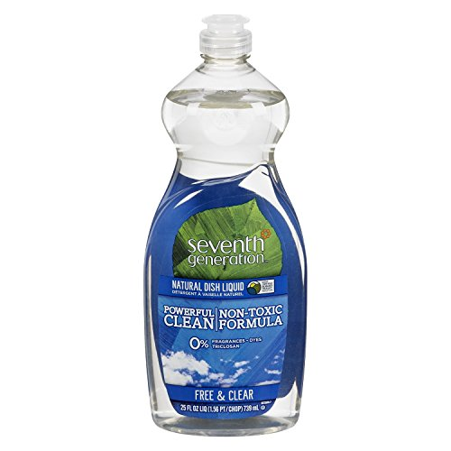 Seventh Generation Dish Liquid Soap, Free & Clear - 25 oz. - Pack of 6