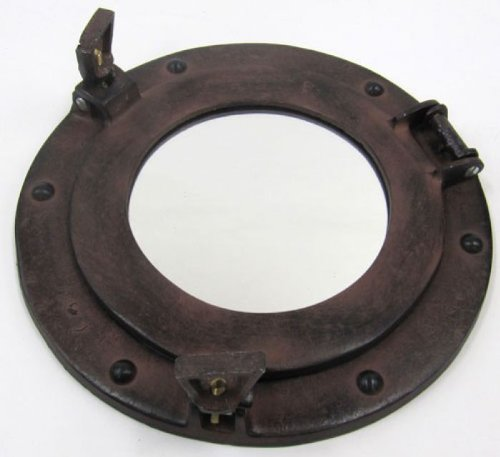 /38,1/cm ITDC Hublot en Verre en Aluminium W//Finition Antique/