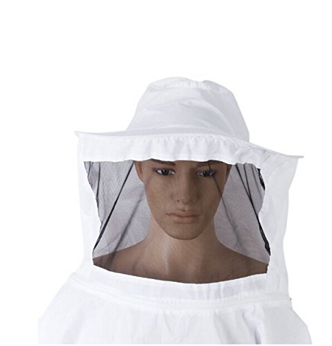 Beekeeping Veil with Square Hat Woven Straw Hat Thickening and Encryption Veil