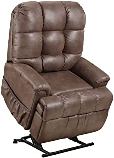 Med Lift 5555 Full Sleeper Lift Chair (Stampede Chocolate Fabric)